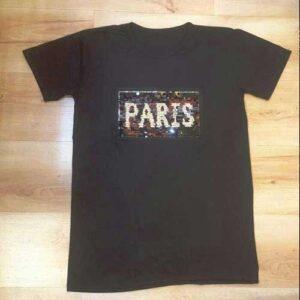تی شرت طرح پاریس