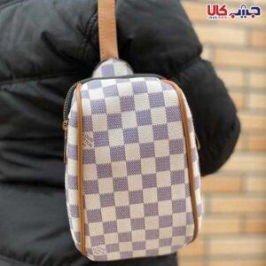 کیف کوله ای شطرنجی 3زیپ 3کاره