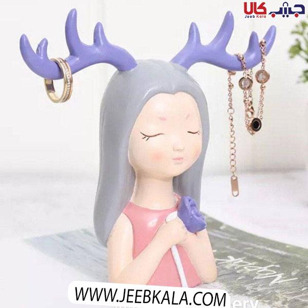 آويز جواهرات طرح دختر شاخ دار