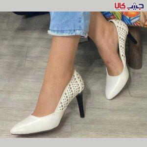 کفش پاشنه 10 سانت پانچی کد 3099-1