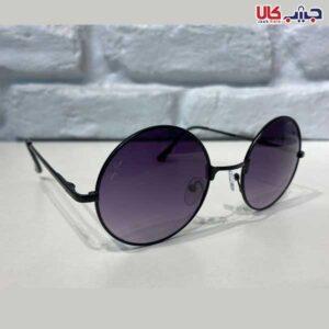 عینک UV400 شیشه گرد مشکی ری بن کد E1081