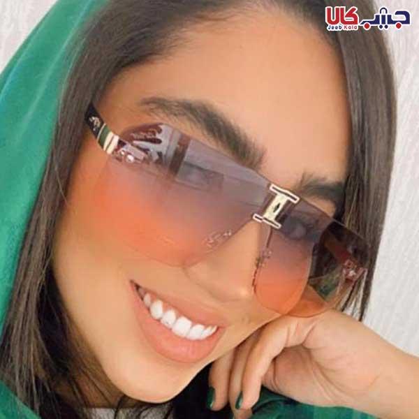 عینک UV400 کارتیر صورتی بنفش کد E1181