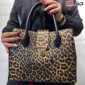 کیف زنانه سه خانه پلنگی