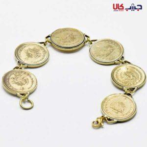 دستبند تمام سکه طلایی کد E9051