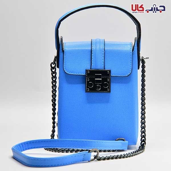 کیف دستی تک بند آبی کد 5103