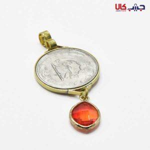 آویز سکه کریستال قرمز کد E9040