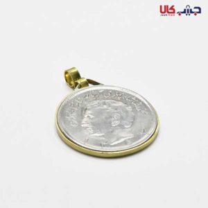 آویز سکه ساده نقره ای کد E9036