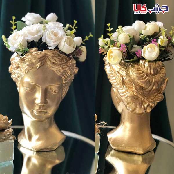 گلدان طرح زن یونانی جنس: پلی استر مناسب برای: تزئینی و استفاده بعنوان گلدان