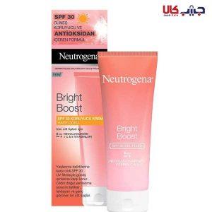 کرم ضد آفتاب نوتروژینا مدل برایت بوست spf 30